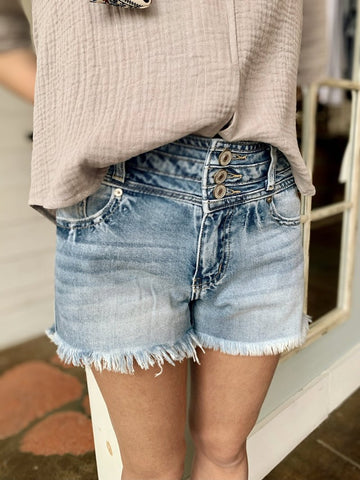 Looking Good High Rise Denim Shorts Cutoff Cut Off Shorts Jean Shorts Kancan Bobbie