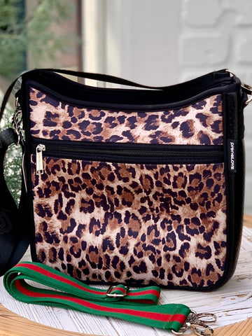 Neoprene Messenger Bag - Growl Power Animal Print