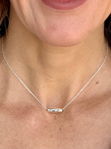 Reward Necklace Silver Bead Choker Short Necklace