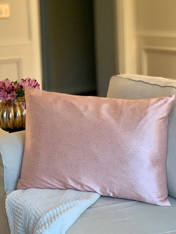 Dotted Dreams Satin Pillowcase - Standard Pink