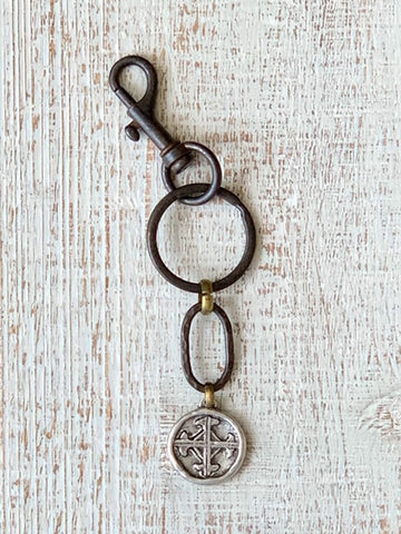 Serenity Prayer Key Ring Silver Medallion