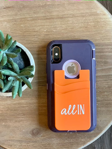 Silicone Phone Wallet - All In Orange