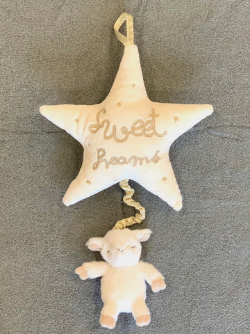 Sweet Dreams Lullaby Lamb Star Nursery Baby Gift Neutral Plays Brahams Lullaby