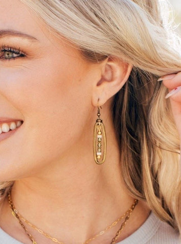 Bridge Tassel Earrings Gift for Her Gold Statement Jewelry Lightweight Jewelry Gifts Under 50