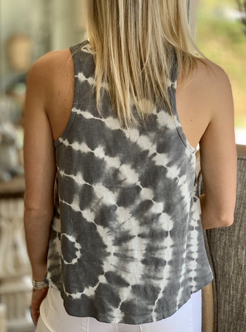 Z Supply Astra Spiral Tie Dye Tank - Charcoal