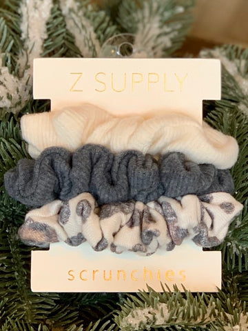 Z Supply Leo Scrunchies Set of 3 - Neutral
