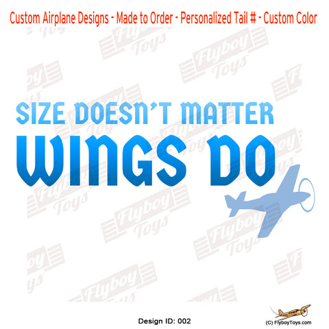 Size Doesn't Matter Wings Do Airplane Aviation Design