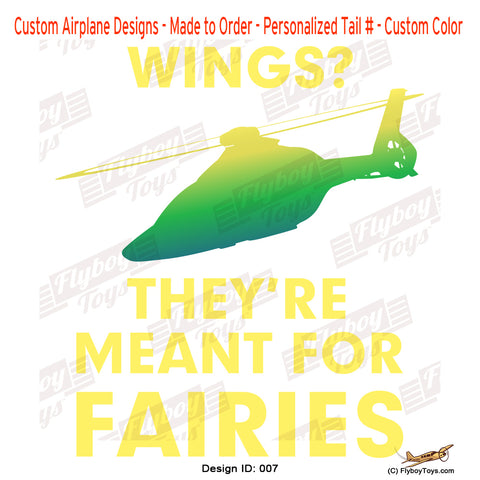 Wings Meant For Fairies Airplane Aviation Design