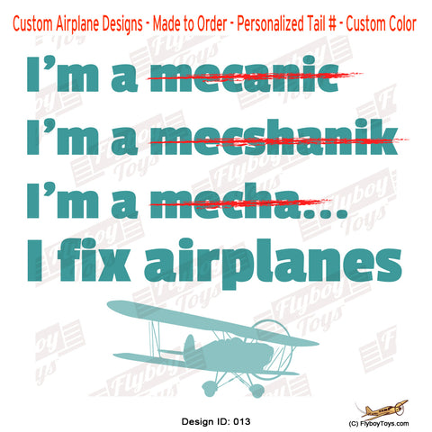 I Fix Airplanes Airplane Aviation Design