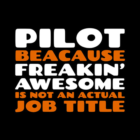 Pilot Freaking Awesome 1 Airplane Aviation Design