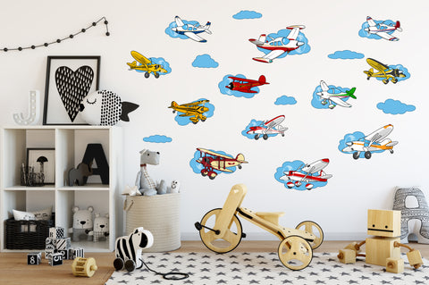 Airplane Die Cut Aircraft Vinyl Stickers Decals (12 Models)