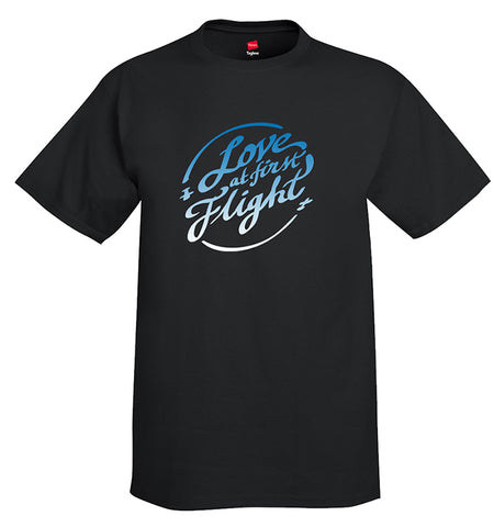 Love at First Flight Aviation Airplane T-Shirt