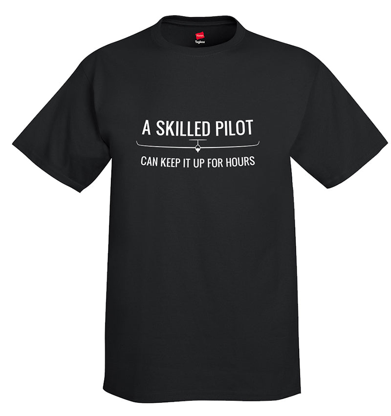 Skilled Pilot Aviation Airplane T-Shirt