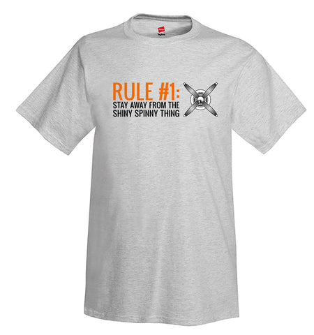 Rule No. 1 Airplane Aviation Design T-Shirt