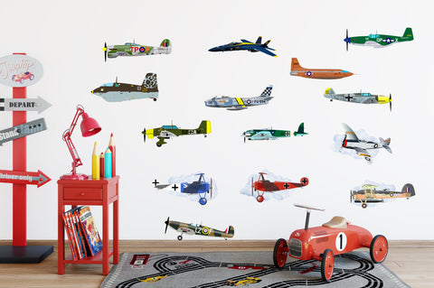 Airplane War Planes Die Cut Vinyl Stickers Decals (14 Models)