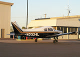 Beechcraft 23 Musketeer Black Brown model