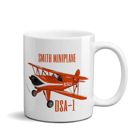 Smith DSA-1 Miniplane Airplane Ceramic Mug - Personalized w/ N#