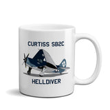 Curtiss SB2C Helldiver Airplane Ceramic Mug - Personalized