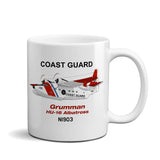 Grumman HU-16 Albatross (Red/Blue) Airplane Ceramic Mug - Personalized w/ N#