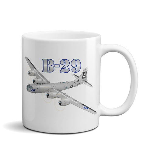 Boeing B-29 Super Fortress Airplane Ceramic Mug - Personalized w/ N#