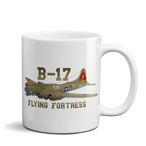 Boeing B-17 Flying Fortress Airplane Ceramic Mug - Personalized w/ N#