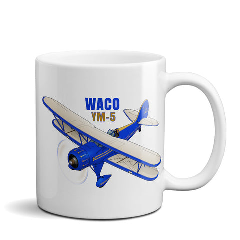 Waco YMF-5 Airplane Ceramic Mug - Personalized w/ N#