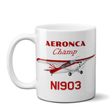 Aeronca Champ 7AC Airplane Ceramic Mug - Personalized w/ N#