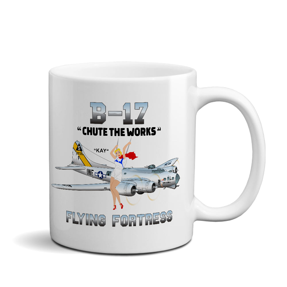 Boeing B-17 Flying Fortress Airplane Ceramic Mug - Personalized