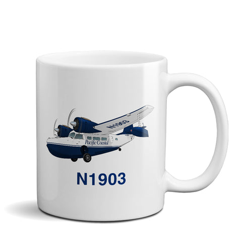 Airplane Custom Mug AIR7IL7FFG21-B1 - Personalized w/ your N#
