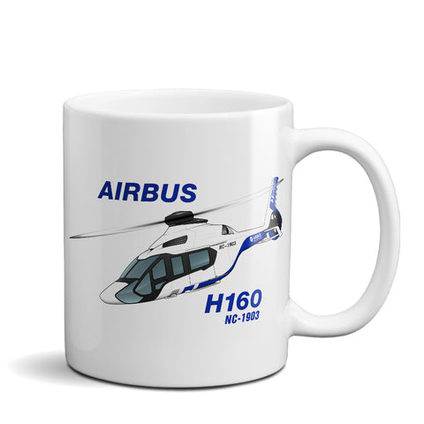 Airbus H160 Airplane Ceramic Mug - Personalized