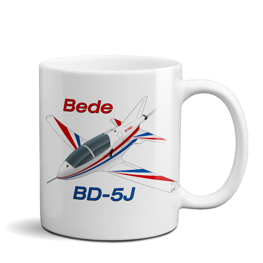Bede BD-5J Airplane Ceramic Mug - Personalized w/ N#