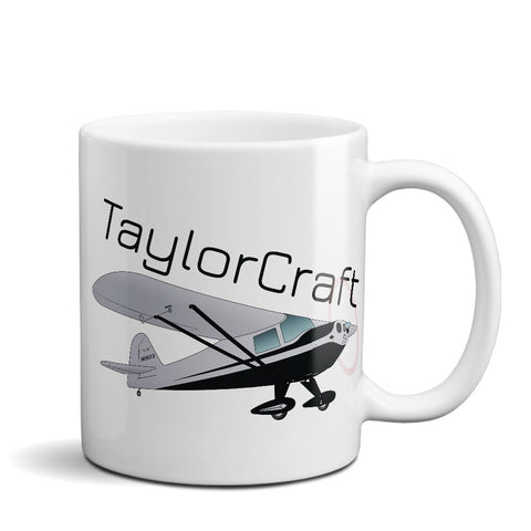 Taylorcraft BC-12D Airplane Ceramic Mug - Personalized w/ N#