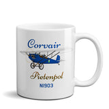 Corvair Pietenpol Air Camper Airplane Ceramic Mug - Personalized w/ N#