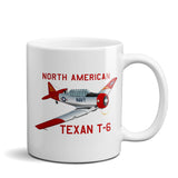 North American Texan T-6 Airplane Ceramic Mug - Personalized w/ N#