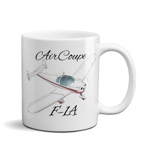 Forney F-1A Aircoupe Airplane Ceramic Mug - Personalized w/ N#