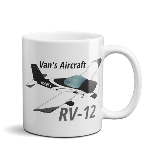Van's Aircraft RV-12 Airplane Ceramic Mug - Personalized w/ N#