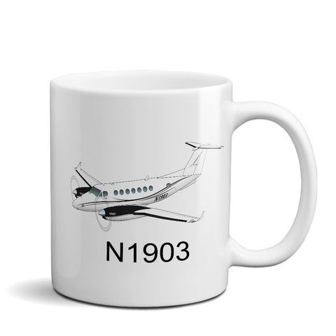 Airplane Custom Mug AIR255JLG350-BLKS1 - Personalized w/ your N#