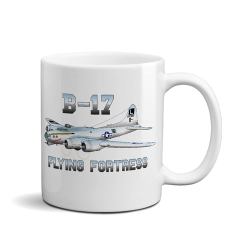 Boeing B-17 Flying Fortress Lady Jeannette Airplane Ceramic Mug - Personalized