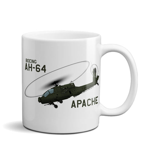Boeing AH-64 Apache Attack Helicopter Ceramic Mug - Personalized