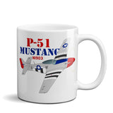 North American P-51 Mustang Airplane Ceramic Mug - Personalized w/ N#