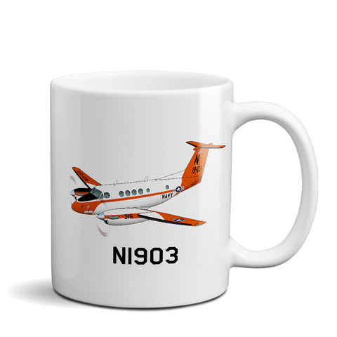 Airplane Custom Mug AIR255JLG200-O1 - Personalized w/ your N#
