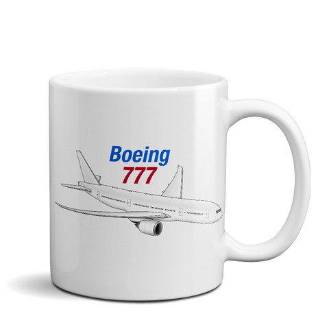 Boeing 777 (BOE777) Airplane Ceramic Mug - Personalized
