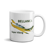 Bellanca Super Viking (Yellow/Green) Airplane Ceramic Mug - Personalized with N#