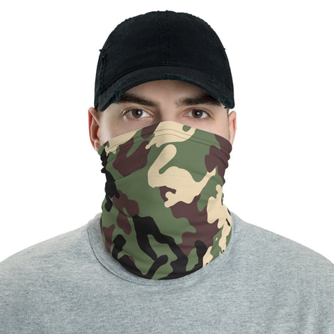 Airplane Camo Neck Gaiter - Customize w/ your Airplane & N#