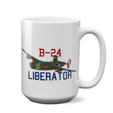 Consolidated B-24 Liberator Airplane Ceramic Mug - Personalized w/ N#