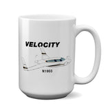 Velocity SE RG (Black/Gold) Airplane Ceramic Mug - Personalized w/ N#