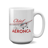Aeronca Chief Airplane Ceramic Mug - Personalized w/ N#