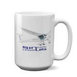 Pipistrel Sinus 912 NW Airplane Ceramic Mug - Personalized w/ N#