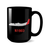 Airplane Custom Mug HRAIR458DHC8 - Personalized w/ your N#