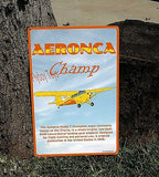 Aeronca Champ (Yellow) HD Metal Airplane Sign